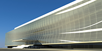 Large scale double curved glass facades made feasible - The Arena Corinthians West Facade